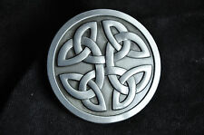 Retro Silver Western Tribal Celtic Trinity Knot Cowboy Rodeo Belt Buckle Gift