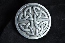 Rétro Argent Western Tribal Celtic Trinity Knot Cowboy Rodeo Boucle De Ceinture Cadeau