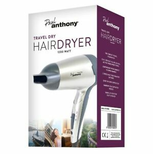LLOYTRON PAUL ANTHONY TRAVEL HAIR DRYER 1200W H1010SV FOLDABLE DUAL VOLTAGE NEW