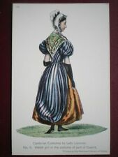 POSTCARD SOCIAL HISTORY WELSH GIRL IN COSTUME OF GWENT