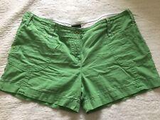 Ladies Bright Green Cotton Shorts Size 20 Next