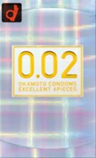 New OKAMOTO Condom 0.02 zero zero-two 1 box 6 pieces Made in Japan f/s