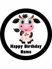 COW 19CM EDIBLE ICING IMAGE CAKE TOPPER #12