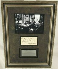 Guglielmo Marconi Italian Inventor & Engineer 'Radio' Autograph Display