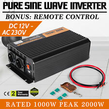 Inverter onda sinusoidale pura 1000W 2000W 12V 220V 230V Convertitore Sortstart