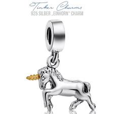 "925er Silber "" Einhorn "" Charm Armband Disney Unicorn kompatibel mit P Charms"