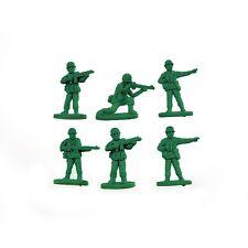 Mustard War On Error Novelty Toy Soldiers Army Men Erasers 6 Pack