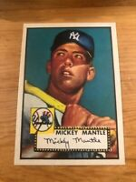 MICKEY MANTLE 1952 Topps #311 New York Yankees Reprint Card Yankees Rookie MINT