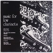 MUSIC FOR LOW CLARINETS: Julian Spear Bach WIM RECORDS Obscure Private LP