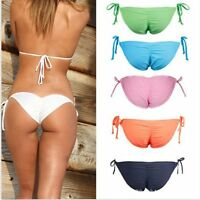 Sexy Women Brazilian Cheeky Bikini Bottom Thong Bathing Beach Swimsuit Swimwear