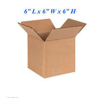 25 - 6x6x6 Corrugated Cardboard Packing Mailing Moving Shipping Boxes Cartons