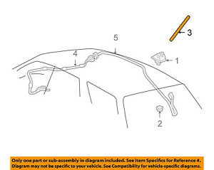 FACTORY LEXUS RX400h RX350 TOYOTA SCION XB ROOF ANTENNA MAST POLE 8630948040 OEM