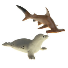 Plastic Ocean Animal Model Figurines Kids Toy Gift Seal & Hammerhead Shark