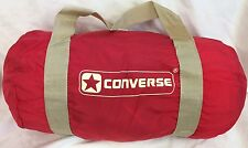 "Converse VINTAGE Duffel Bag Gym Bag NWT Old School Red With Tan 19"" Long"