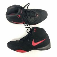 competitive price d27d2 364fc Nike Zoom Quix Mens Basketball Athletic Shoes US 11 Black Red Lace Up