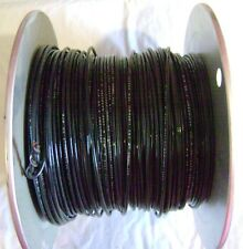 TFN 18 AWG 500' Ft Spool of Black 18 Gauge Solid Copper Electrical Wire
