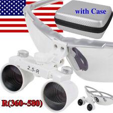 Adjustable Dental Surgical Medical Binocular Loupes Magnifier 25x R 360580bag