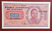 Katanga - Congo Belge - Belgique  Magnifique billet de  50  Francs du 10-11-1960
