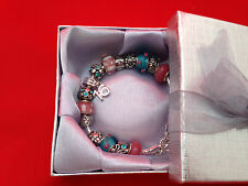 Handmade Beautiful Pink & Turquoise ' Sweet 16  ' Bracelet with Pink Gift Box