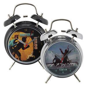 Tintin Alarm Clock Children Kids Bedroom Captain Haddok And Snowy Xmas Gift Bell