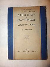 Arte Europa Pittura - Catalogo Mostra Roma Palazzo Venezia 1944 in inglese