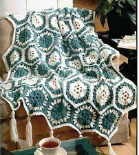 Crochet Pattern Afghan Blanket Throw Sea Breeze