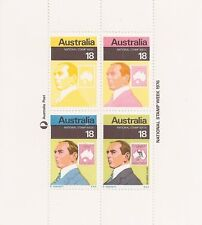 Australia National Stamp Week  R Honisett  Blamire Young  Mini Sheet of 4 Stamps