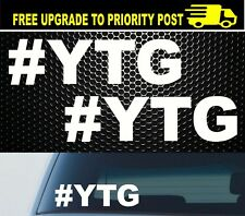 2x # Yeah The Girls YTG JDM Ute Car 4x4 Sticker Decal Beer Bogan Funny Aussie