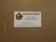 CHL New Mexico Scorpions Vintage Defunct Business Card