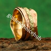Solid Copper Band Meditation ring statement ring Spinner Ring All Size