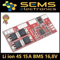 BMS 4S 15A Li-Ion LiPo Battery 18650 Charger Protection Board 12,6V no Balancer