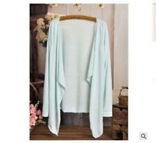 Fashion Autumn Candy Colors Sun Protection Casual Cardigans light blue