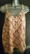 Size 18 Pink Checked Strappy Camisole Top  La Redoute Creation Women's/Cami/NEW