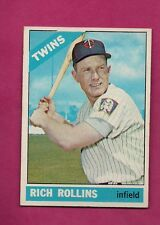 1966 TOPPS # 473 TWINS RICH ROLLINS EX-MT CARD (INV# A4158)
