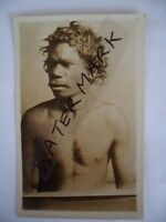 ANTIQUE VINTAGE OLD PHOTO POSTCARD of an ABORIGINAL MAN with SCARS POST CARD