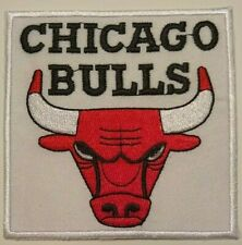 """Chicago Bulls~Embroidered PATCH~3 1/2"""" Square~Iron or Sew On~NBA~FREE US Mail"""