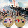 WR Fine Quality Coin American Civil War Gold Foil Challenge Coin For Collection