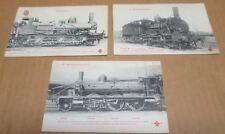 TRAIN LOCOMOTIVE chemins de fer du Nord ensemble de 3 cartes postales gros plan
