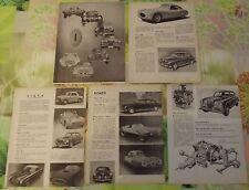 Document Salon de l'Automobile 1954 Italie Fiat Lancia Ferrari 212; 250 ;166