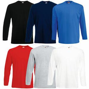 Fruit of the Loom Longsleeve Valueweight Langarmshirt Long Sleeve T-Shirt Herren