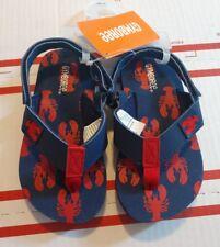 Gymboree boys swim shop lobster sandals size 7-8 nwt