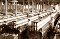 "1916 Spinning Room Indian Orchard Mill, MA Vintage Photograph 11"" x 17"" Reprint"