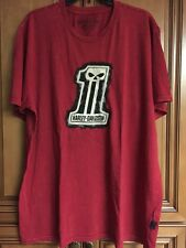 New Red Harley Davidson Embroidered Willie G Racing 1 Mens T-Shirt Sz 2XL or 3XL