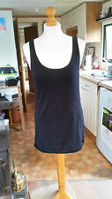 Looks New Ladies Women's Black Stretch BODYCON Dress Top Sz 16 L by DIVIDED HM