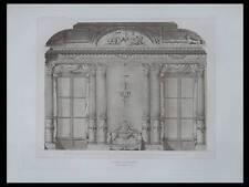 FRANCOIS-JOSEPH BELANGER, SALON D'APPARAT - 1911 - PLANCHE ARCHITECTURE -