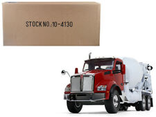 Kenworth T880 w/ McNeilus Standard Mixer Red Cab/ White Body 1/34 by First Gear