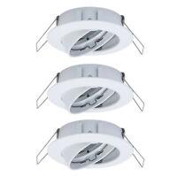 3 x Einbaurahmen Weiß GU10 Schwenkbar IP23 exkl. Leuchtmittel inkl. Anschlussset