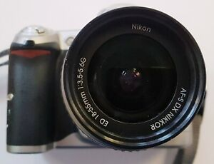 Nikon D D50 6.1MP Digital Camera -Silver 18-55 Lens (Ma06) CAMERA & BATTERY ONLY
