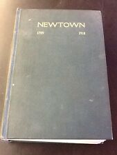Newtown's History 1705-1918, Jane Eliza Johnson, hc, 1917
