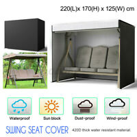 Outdoor Swing Chair Hammock 3 Seater  Canopy Bench Seat Cover Protector